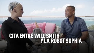 Download Cita entre Will Smith y la robot Sophia Video
