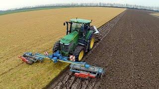 Download Ploughing & Power Harrowing in one pass with a John Deere 7280R / Lemken Zirkon / Kverneland Video