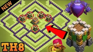 layout cv8 push new best th8 trophy base clash of clans free