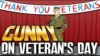 Download Gunny celebrates Veterans Day with the neighborhood Video