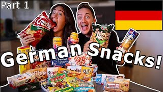 Download American Girlfriend Tries GERMAN SNACKS & CANDY! (Part 1) Video
