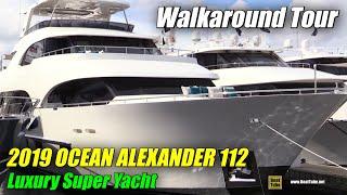 Download 2019 Ocean Alexander 112 Luxury Super Yacht - Deck Interior Walkaround - 2018 Fort Lauderdale Boat Video