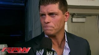 Download Cody Rhodes reacts to getting fired: Raw, Sept. 2, 2013 Video