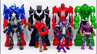 Download Power Rangers & Marvel Avengers Toys Pretend Play   Super Hero Mech Armors vs Darkseid Villains Video