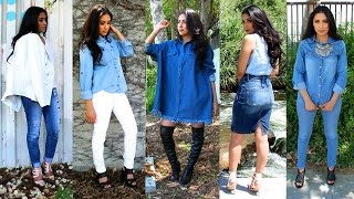 Download HOW TO STYLE DENIM | Shirts, Jeans, Skirts, Dresses| Spring/Summer Lookbook 2015 Video