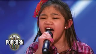 Download America's Got Talent 2017 Angelica Hale 9 Year Old Stuns Simon & The Crowd Full Audition S12E02 Video