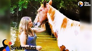 Download Wild Horse Adopted by Woman Becomes Best Friends with Her | The Dodo Soulmates Video