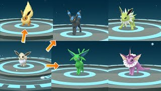 Download How to get all gen 1 & 2 Shiny Eevee Evolution! Eeveelution in Pokemon Go Video