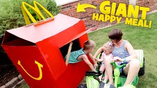Download McDonald's Happy Meal PlayHouse! DIY Drive Thru Prank & Backyard Family Fun! Video