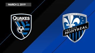 Download HIGHLIGHTS: San Jose Earthquakes vs. Montreal Impact | March 2, 2019 Video