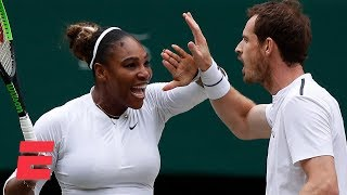 Download Serena Williams, Andy Murray advance in mixed doubles | 2019 Wimbledon Highlights Video