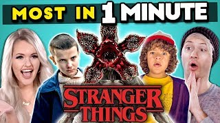 Download Can YOU Name The Most STRANGER THINGS Characters In 1 MINUTE? | Most In A Minute Video