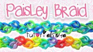 Download NEW Paisley Braid Rainbow Loom / Monster Tail Bracelet Tutorial | How To Video