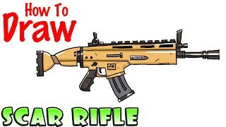 Download How to Draw the SCAR Rifle | Fortnite Video