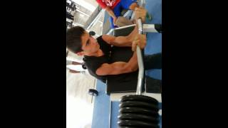 Download A boy of 12 years old is holding 70 kilos BICEPS Video