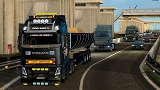 Download Euro Truck Simulator 2 - Volvo FH 2013 by Ohaha and Tipper trailer Video