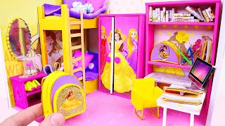 Download DIY Miniature Dollhouse Room ~ Belle (Beauty and the Beast) Room Decor, Backpack Video