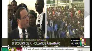 Download INTEGRALITE DU DISCOURS TRES FORT DE FRANCOIS HOLLANDE AU PEUPLE MALIEN Video