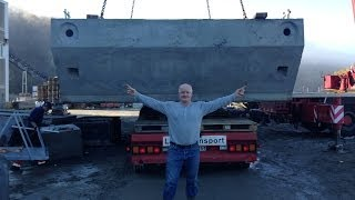 Download Largest concrete floating dock ever to go by car in Norway! Video