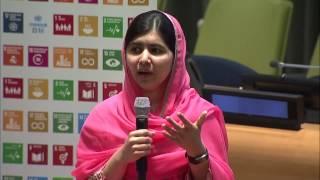 Download Malala Yousafzai (UN Messenger of Peace) conversation about girls' education Video