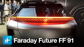 Download Faraday Future's 1050hp FF 91 EV wows the crowd at CES 2017 Video