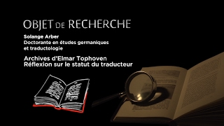 Download Archives d'Elmar Tophoven : réflexion sur le statut du traducteur Video