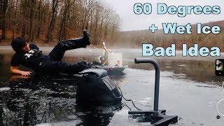 Download Ice Fishing in WARM Weather... Do Not Attempt!!! Video