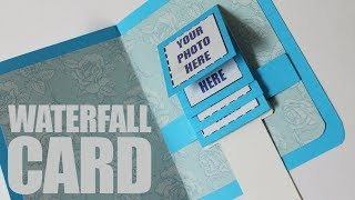Download How to make waterfall card easy Video
