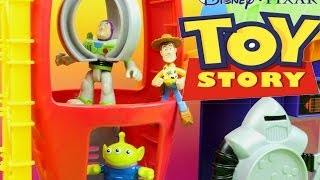 Download Toy Story Pizza Planet Playset Imaginext Buzz Lightyear & Woody Escape the evil Zerg Claw grabs Buzz Video