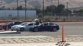 Download Couple of Tesla Model 3 In Testing Video