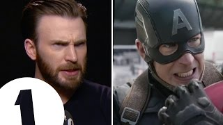 Download Chris Evans shows off Captain America's angry eyeball acting Video