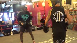 Download 15-year old Amatuer Boxing champion vs Pro UFC fighter Go to WAR in Sparring!!! Video