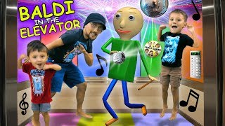 Download 🎵 BALDI PARTY IN THE ELEVATOR🎵 + BALDI goes CAMPING w/ FGTEEV In Real Life & FNAF Ruins It! Video