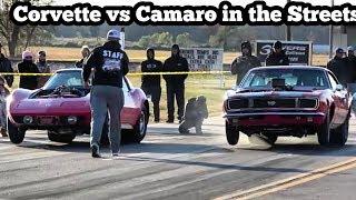 Download Corvette vs Camaro in the streets of Wagoner Oklahoma Video