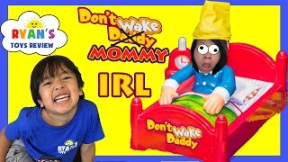 Download DON'T WAKE MOMMY IRL CHALLENGE Family Fun Games for Kids Egg Surprise Warheads Extreme Sour Candy Video