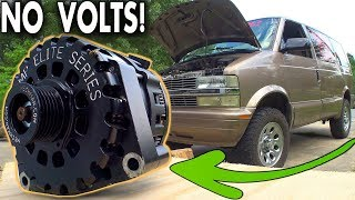 Download Finding a BLOWN Alternator... Installing & Testing Most POWERFUL High Output Alt in Chevy ASTRO Van Video