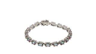 Download Colleen Lopez Oval Quartz Sterling Silver Line Bracelet Video