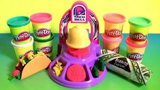 Download Play Doh Taco Bell Playset DIY Waffle Tacos Burritos Nachos Play Dough Food Meal Clay Toys Video