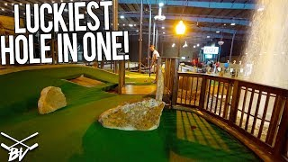 Download THE LUCKIEST MINI GOLF HOLE IN ONE EVER! Video