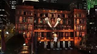 Download Vivid Light Festival Sydney 2016 - Hidden Stories at Custom House Sydney Australia Video