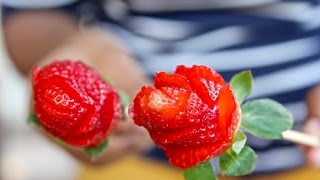 Download 🌹How To Make Strawberry Roses | Quick & Easy! Video