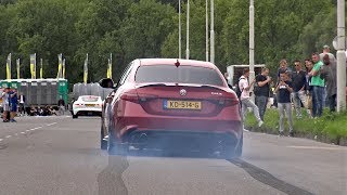 Download 510HP Alfa Romeo Giulia Quadrifoglio - Launches, Revs, Accelerations! Video