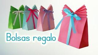 Download Manualidades: BOLSAS de PAPEL para REGALO - Innova Manualidades Video