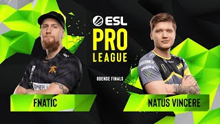 Download CS:GO - Fnatic vs. Natus Vincere [Overpass] Map 3 - Semifinals - ESL Pro League Season 10 Finals Video