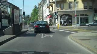 Download Swiss Border to Mont Blanc carpark Geneva Video