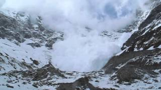 Download Avalanche on Lirung Glacier Video