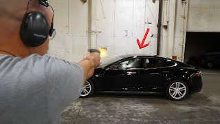 Download Will a BULLET PROOF Tesla actually stop bullets? Video
