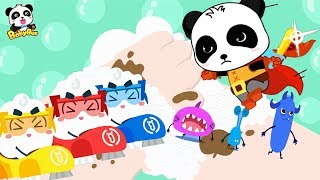 Download Super Panda and Soap Bubble Rangers | Kids Pretend Play | Kids Safety Tips | Kids Song | BabyBus Video