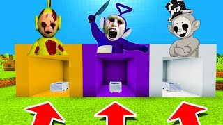 Download Minecraft PE : DO NOT CHOOSE THE WRONG MINECART! (Laa-Laa, Tinky Winky & White Slendytubby) Video