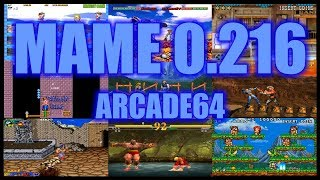 Download MAME 0.216 ARCADE64 0.216 TEST Video